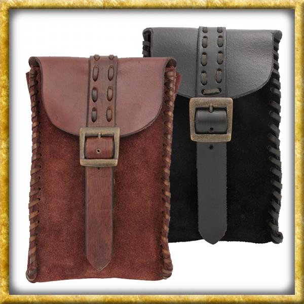 Wildledertasche Merchant - Schwarz oder Braun