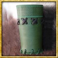 Würfelbecher aus Leder - Grün