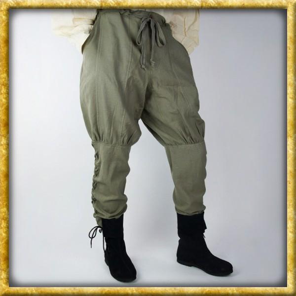 Wikingerhose mit Beinschnürung - Grün