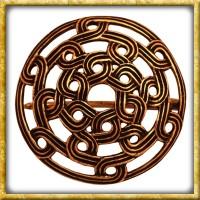 Wikinger Rundfibel mit Knotenmuster - Bronze