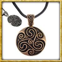 Keltisches Amulett Triskele - Silber oder Bronze