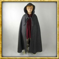 Umhang mit langer Kapuze für Kinder - Grau