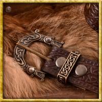 Ledergürtel mit keltischem Motiv - Braun