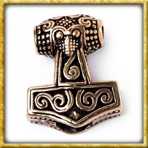 Wikinger Bartperle Thorshammer aus Schonen - Bronze