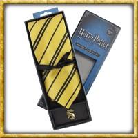 Harry Potter - Krawatte & Ansteckpin Hufflepuff