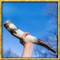 Edles Trinkhorn mit schottischer Distel - ca. 400ml