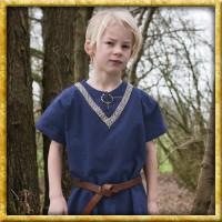 Mittelalter Tunika mit Bordüre für Kinder - Blau