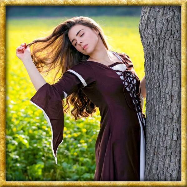 Mittelalter Kleid mit Schnürung - Braun/Natur