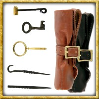 LARP Einbruchswerkzeug mit Ledertasche - Braun oder Schwarz