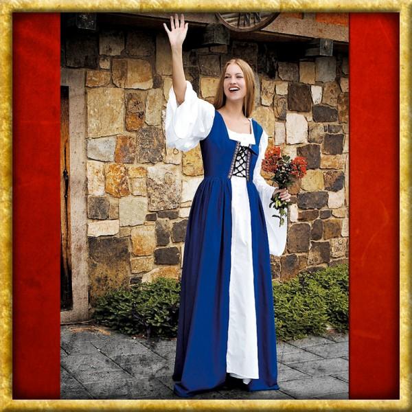 Kleid mit Schnürbustier - Blau