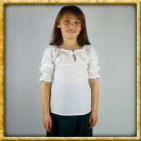 Mittelalter Bluse für Mädchen - Weiss